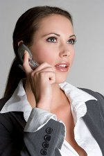 Sales Woman On Phone